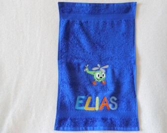 Embroidered towel, guest towel, 30 x 50 cm,