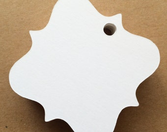 White blank gift tags favor tags wedding tags custom gft tags set of 25