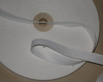 "15 yards 1/2"" width white cotton tape trim for your fashion design decor. (b1)"