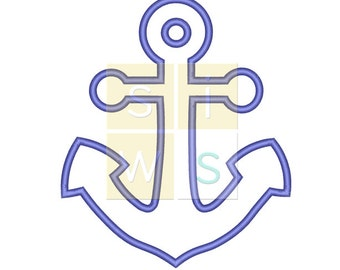 Anchor Applique Pattern for Embroidery Machines 4x4 - Instant Download