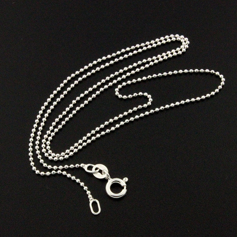 sterling silver bead chain 1 2 mm thickness italy silver