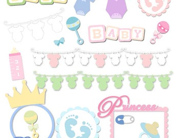 Baby Elements Vector Art SVG Files
