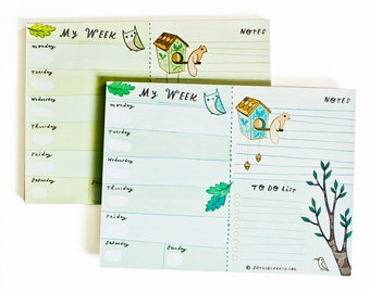 Weekly Planner Notepad - Organizer Planner for 2017 Planner Pad - 2017 Weekly Planner - Weekly Agenda