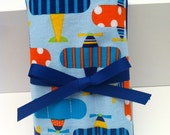 Crayon Roll Up  - Airplanes - with Crayola Crayons and Paper Pad - Ready to Ship
