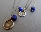 Add a Charm - Lapis Lazuli Faceted Gemstone Cube Charm