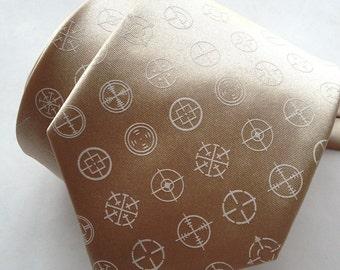 Crosshairs necktie. Shotgun Wedding? Gun sight dot pattern. Men's silkscreen tie. Your choice of color & size.
