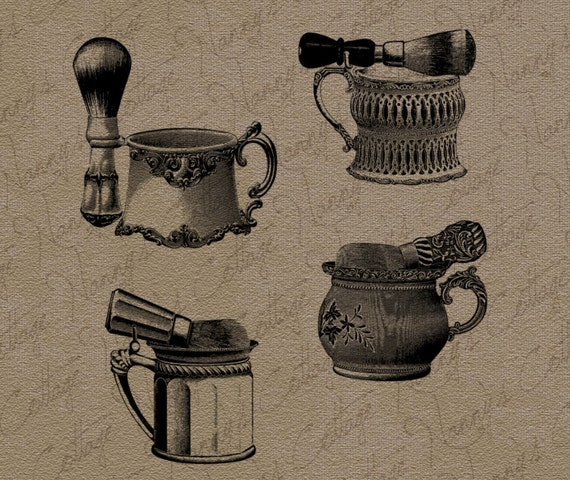 Vintage Barber Clipart Items similar t...