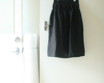 BLACK LINEN SKIRT / womens maxi skirt / linen clothing / spring / summer clothes / eco clothing / organic / plus size / by pamelatang