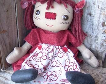 Raggedy Annie doll, cloth doll, Millie