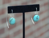 Desert Sands Sterling Silver and Turquoise Earrings