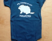 Organic Cotton Onesie: Baby Porcupines are Called Porcupettes!