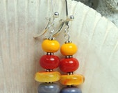 FOXGLOVE Handmade Lampwork Bead Dangle Earrings