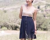 Navy high waisted- Rah Rah skirt