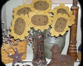 Primitive Sunflower Ornies Bowl Fillers Doll E Pattern Pattern