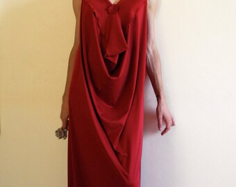 prom red dress, backless jersey dress, flapper dress, infinity dress, grecian dress, maternity dress