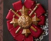 Steampunk Rosette Medal