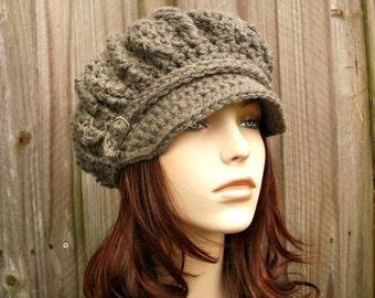 Grey Womens Hat Grey Newsboy Hat - Spring Monarch Ribbed Crochet Newsboy Hat Woolen Grey Crochet Hat Grey Hat Womens Accessories Winter Hat