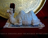 RESERVED**Porcelain Camel, Flying Carpet, Handmade Fez / Original Upcycled Sculptural Creation / For Personal Metaphysical Magical Thinking