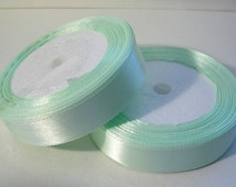 "Satin Ribbon(R54A) 3/4"" Mint Green 25 yard Spool//Crafts DIY Wedding Streamers Dreamcatchers Bows Party Decor"
