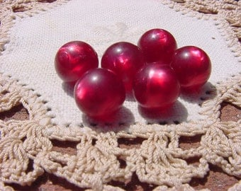 Cabernet Moonglow Vintage Lucite Moonglow Beads