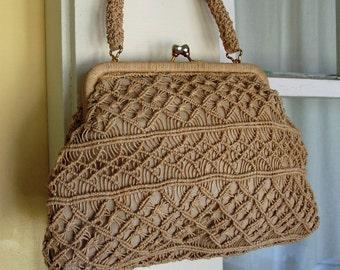 Vintage Woven Clutch Purse
