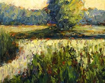 Bobbi Doyle-Maher Southern Landscape  Original Oil Painting Palette Knife FREE SHIPPING
