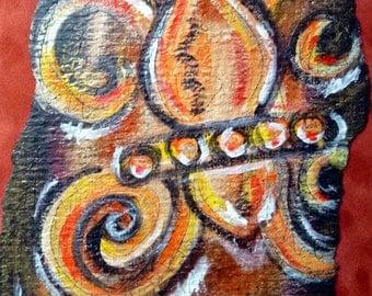 Fleur de lis original painting SALE Priced