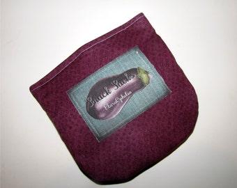 Magenta with Eggplant Snack Bag