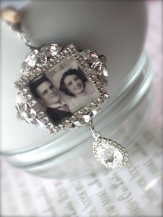 memory wedding bouquet photo charm bridal bouquet charm swarovski