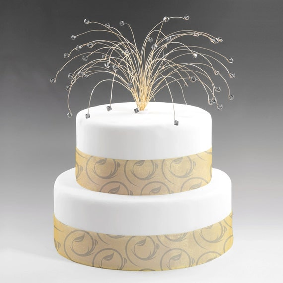black and gold wedding cake topper items similar to wedding cake topper spray gold with grey 11815