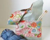 Valori Wells Japanese Knot Bag - Reversible Cotton Knitting/Crochet Project Bag