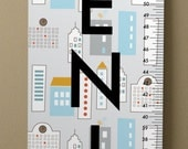 Personalized Vinyl Dwell Studio Skyline Growth Chart