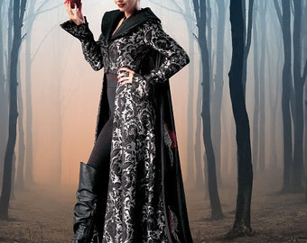 McCall's 6818-Dark Gown and Evil Queen-Ren Faire Gothic-Plus Size 12-20