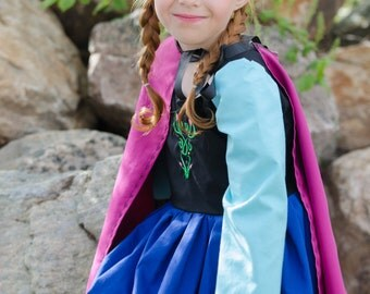 Cute Anna Frozen Inspired Snow Princess Costume Dress