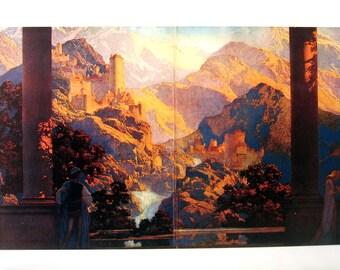 Maxfield Parrish Print - Romance, circa 1925 - 1989 Large Poster Size Book Page - 16 x 11