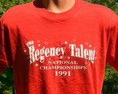 vintage t-shirt regency TALENT show contest scout funny new deadstock shirt Large screen stars 1991