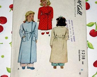 1940's McCall Vintage Child's Bathrobe, Size 2