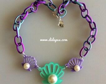 OCEAN PASTEL SHELLS laser cut necklace