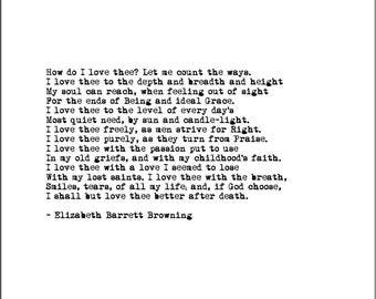 sonnet 43 elizabeth barrett browning essay When cataloging the world's most famous love poems, one must include near the top elizabeth barret browning's how do i love thee  the poem is a sonnet,.