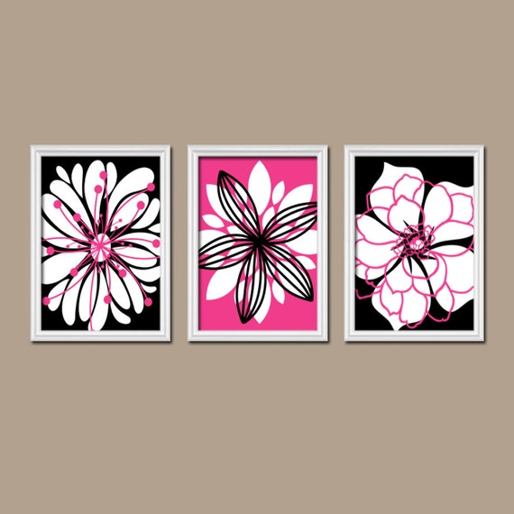 Pink Black Wall Decor : Pink black wall art bedroom pictures canvas or prints hot