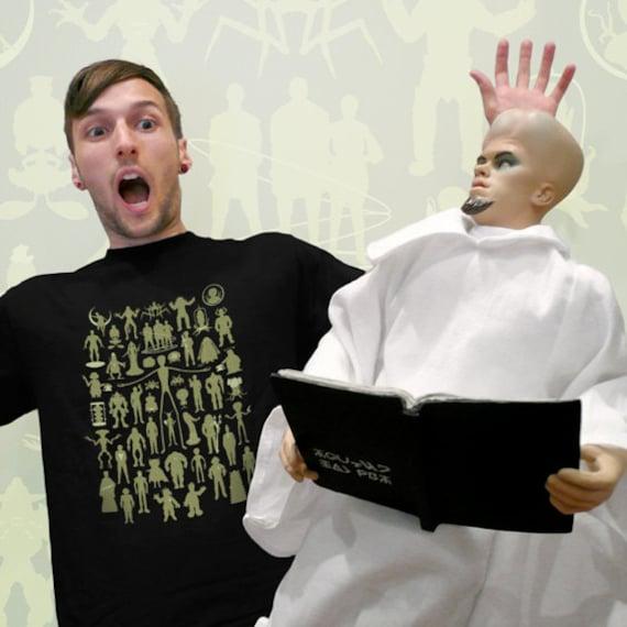 alienWe Tshirt New Version (50 Aliens) on Black