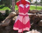 Princess Aurora inspired Sassy Apron, Sleeping Beauty, Cosplay, Girls and Womens Aprons, Plus Sizes, Pin Up, Lolita, Disney Princess