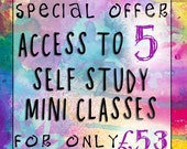 SPECIAL OFFER - Buy Access to 5 Self Study Mini Classes at a Reduced Price