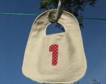 SALE 1st Birthday Bib gift for baby choice of colours for number