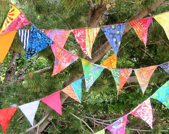 Prayer Flags Colorful Mini Flag Garland 12 Feet  (3.66 m)