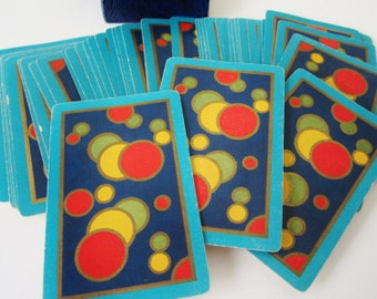 ART DECO Pinochle Playing Cards Colorful Carnival Bubbles