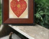 Cinnamon Heart - cross stitch pattern from - Notforgotten Farm