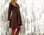 Angela ~ Hooded Dress Coat ~ Hemp & Organic Cotton Fleece ~ Made to Order