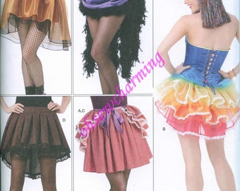 Simplicity 1346 Mini Tutu Skirt and Over Bustle Sewing Pattern Sizes 6-8-10-12-14 Steampunk Goth Burlesque Carnival Costume