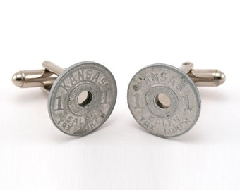 Kansas Sales Tax Token Cufflinks - Own a Piece of History